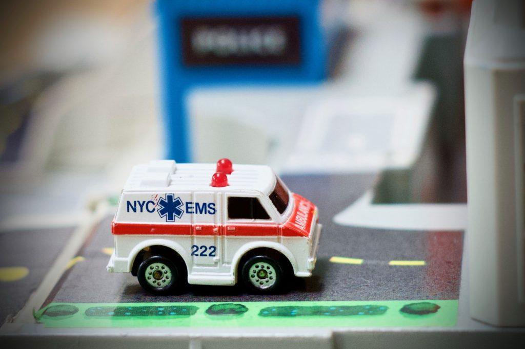 Ambulance - Micro Sonic Flashers - Majorette