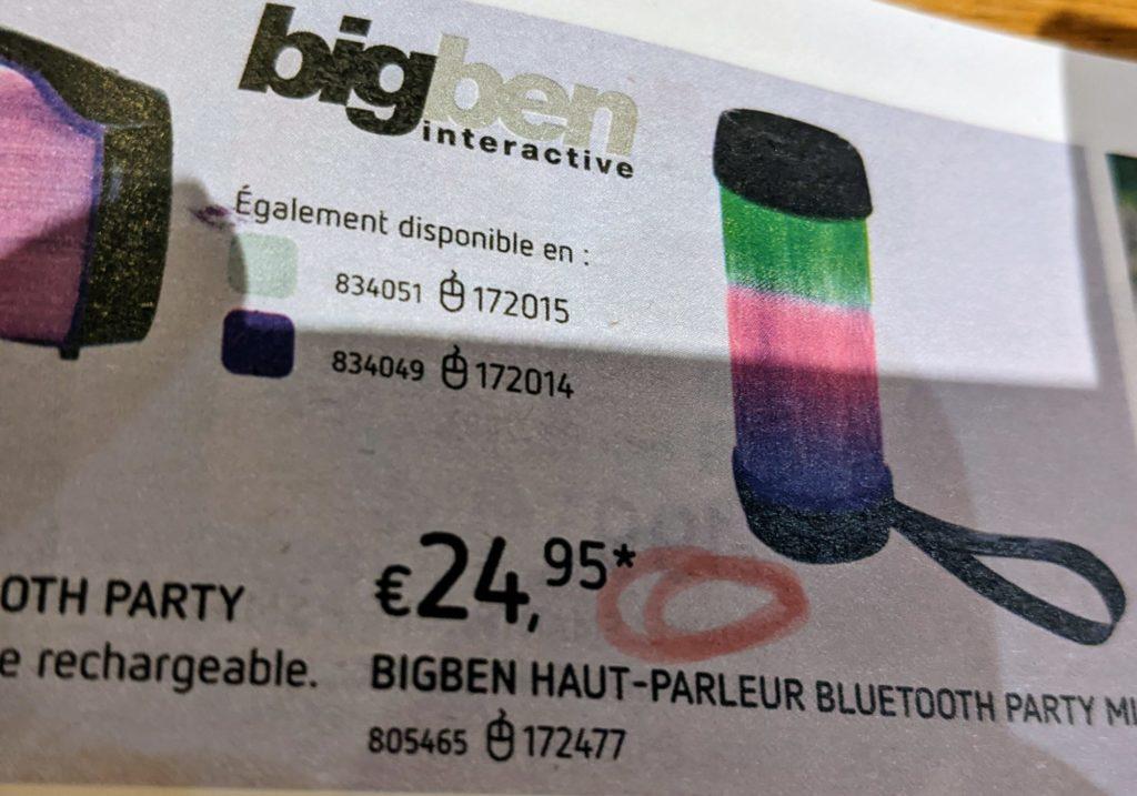 Encore un baffle Bluetooth coloré