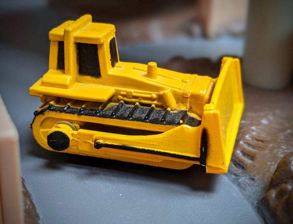 Bulldozer - Construction Truck #5048 - Micro Champs Funrise, 1989