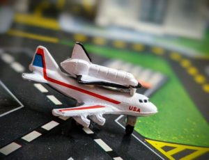 boeing 747 shuttle carrier - Micro Machines - Galoob