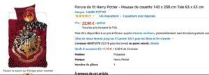 Une parure de lit Harry Potter