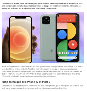 iPhone 12 vs Pixel 5 : quel est le meilleur, le plus abordable et lequel choisir ?