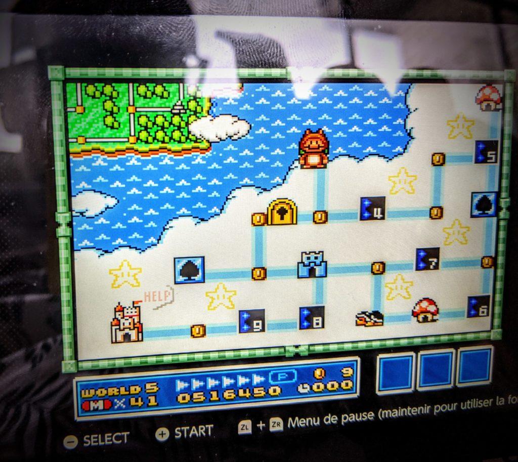 C'est peut-être un détail pour vous, mais pour moi ça veut dire beaucoup... 3eme monde de Super Mario All Stars / Bros. 3 , sans la flûte 🙂 C'est cool le mode /rewind pour les boss !