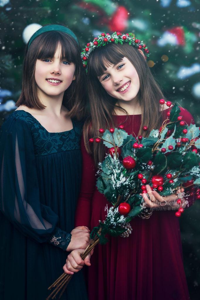 On teste le décor extérieur de Noël - Petite Snorkys Photography