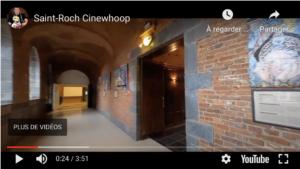 Vidéo de présentation classiques sur fond musicale, boostée par l'utilisation d'un petit drone.