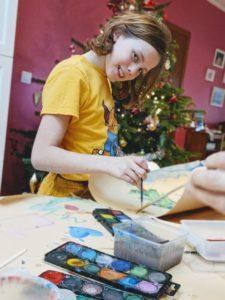 Après-midi peinture de Noël