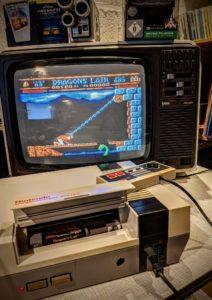 """Éloigné du défi technologique que représentait la version """"LaserDisc Arcade"""", je découvre Dragon's Lair sur la NES de Nintendo"""