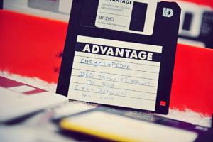 La disquette de L'encyclopédie des trucs et astuces de Jeux Vidéo (ETAJV)