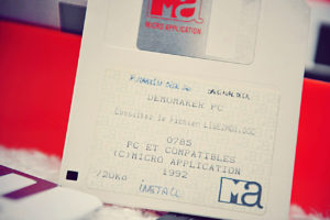 La disquette de Demomaker PC (Micro Application, 1992)