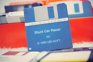 La disquette de Stunt Car Racer (Microprose - Ubi Soft, 1990)