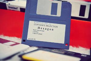 La disquette d'Hexagon (Copysoft)