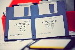 Les disquettes de Super Ski 2 - PC MS-DOS (Microïds, 1992)