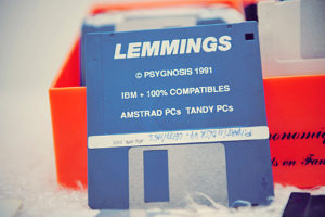 La disquette de Lemmings - PC (Psygnosis, 1991)
