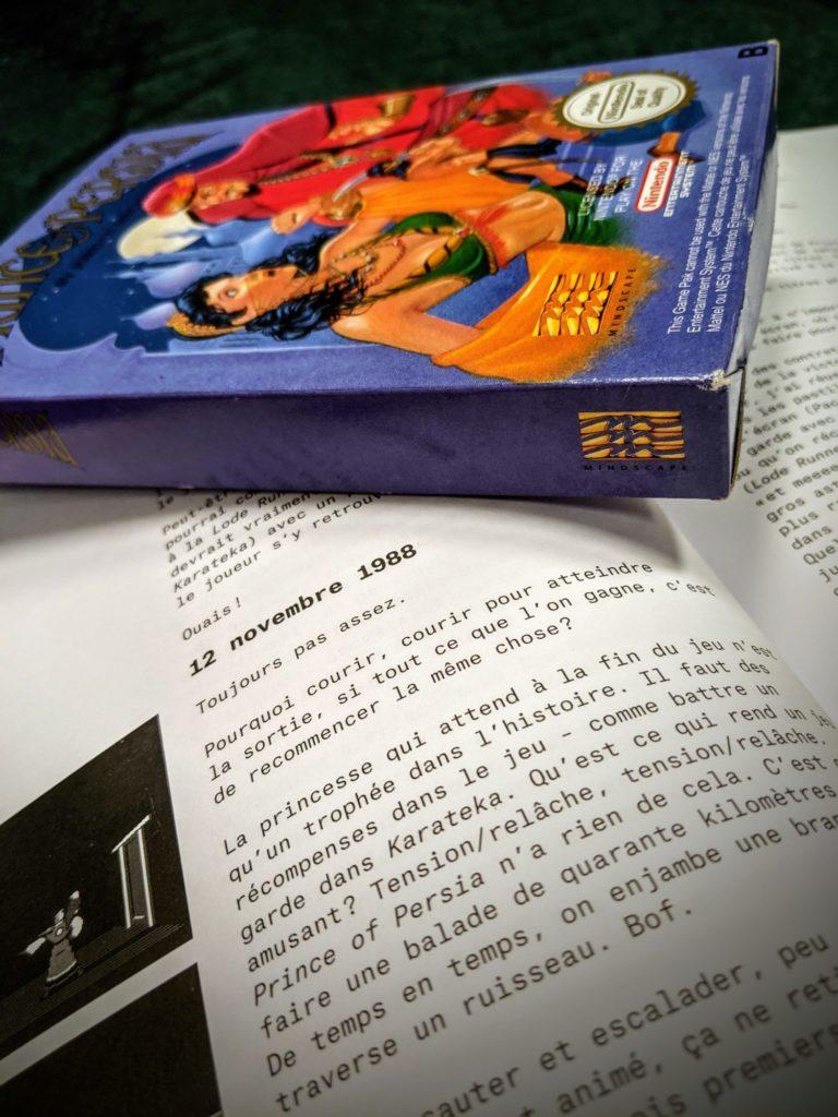 Qu'est-ce qui rend un jeu amusant ? Tension/relâche, tension/relâche. Prince of Persia n'a pas cela (12/11/1988 à quelques mois de la sortie finale du jeu, page 76-77).
