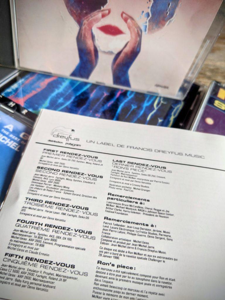 Des crédits précis sur l'album Rendez-vous de Jean-Michel Jarre