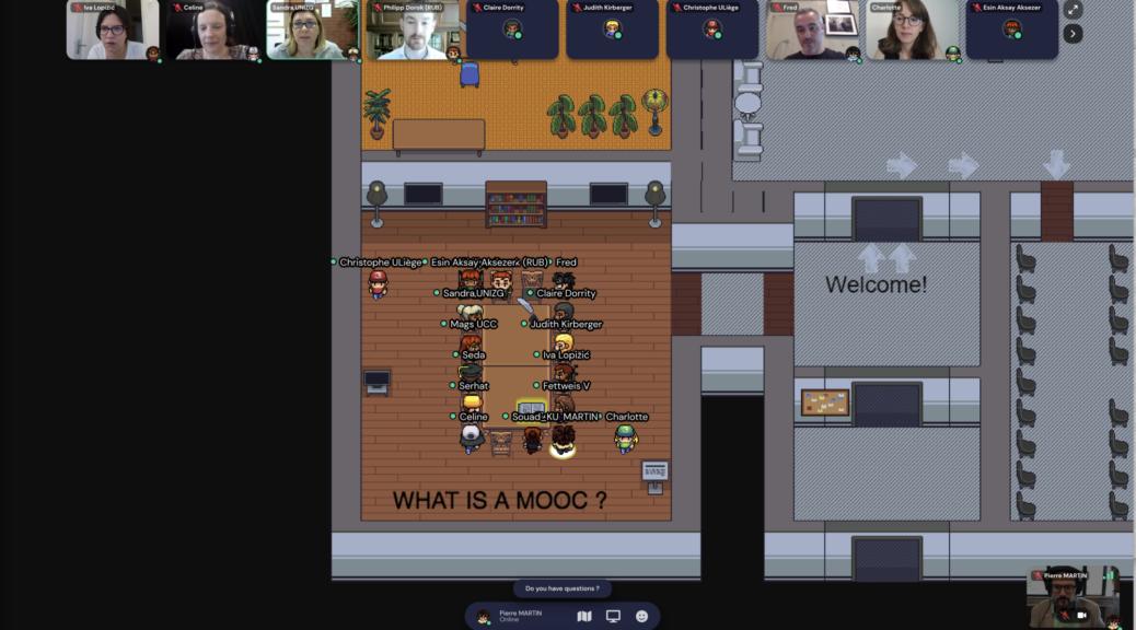 Présentation du projet MOOC uLiège dans GatherTown