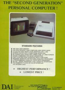 publicité pour le micro ordinateur DAI
