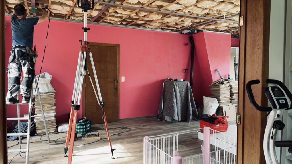 Remplacement du fond plafond