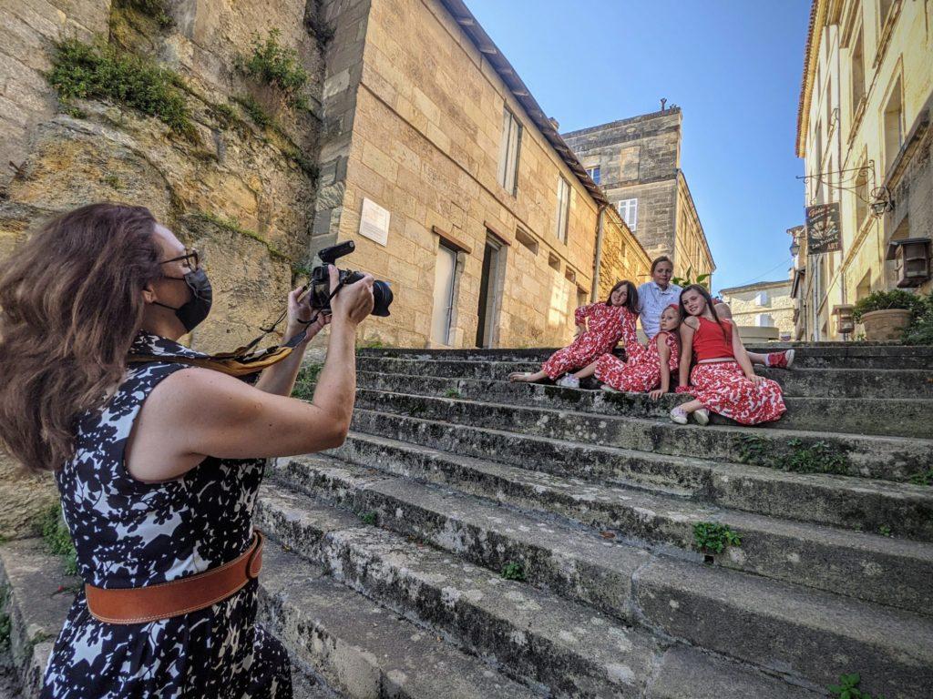 Shooting photo avec Muriel à Bourg sur Gironde