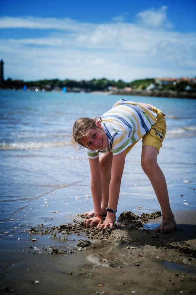 L'eau est chaude sur la plage de Saint Georges en Didonne